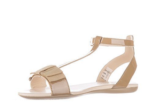 Hogan sandalias mujer en piel nuevo beige