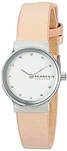 Skagen Women's Quartz Watch analog Display and Leather Strap, SKW2770