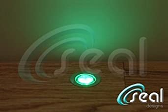 10 x 30mm LED Lights Deck / Decking / Kitchen Plinth GREEN **Now with IP68  Waterproof Transformer** - Seal