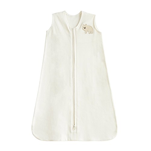 TILLYOU All-Season Baby Wearable Blanket Sleeveless Sleep Sack for Infant Boys Girls Newborn Ages 6-12 Months 100% Jersey Cotton Sleeping Bag with Zipper Soft Cozy and Warm, White Bear by TILLYOU