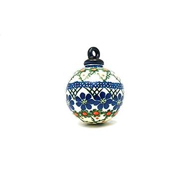Polish Pottery Ornament - Ball - Primrose