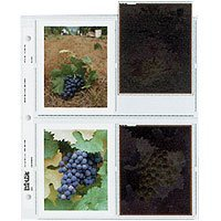 Archival Negative Pages Holds Eight 4 x 5'' Polaroid Prints or Four 4 x 5'' Sleeved Negatives, Pack of 100 by Print File