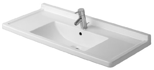 - Duravit 0304100000 Starck 3 41-1/4-Inch Single-Hole Furniture Washbasin, White Finish