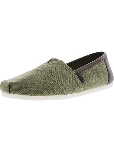 (TOMS Men's Classic Slip On (12 D(M) US, Olive Washed Canvas/Trim))