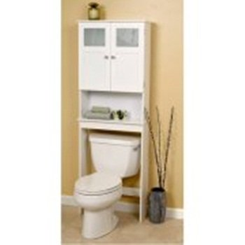 Wood Space Saver Storage,White, Featuring a Contemporary Style, This Modern Piece of Furniture Will Add an Inviting Touch to any Style of Decor, Bundle with Expert Guide for Better Life