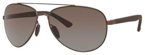 Gucci 2266S GZK Matte Dark Brown 2266S Aviator Sunglasses Polarised Lens - Sunglasses Polarised Aviator