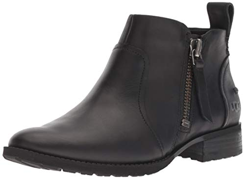 UGG Women's AUREO Ankle Boot, Black 1, 7 M US