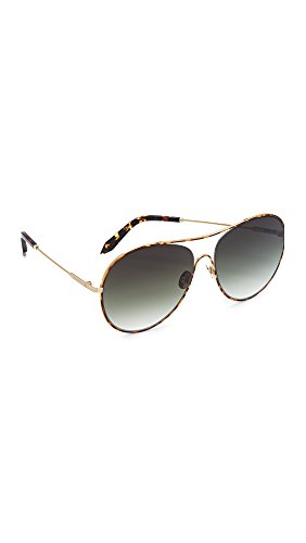 Victoria Beckham Women's Loop Round Aviator Sunglasses, Tortoise/Aurora, One - Sunglasses Beckham Aviator Victoria