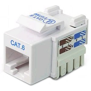 Belkin R6d026-ab6-wht Cat6 Keystone Jack 568a/568b White Channel Certified by Belkin Components