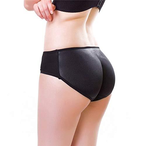 (Shaper Boyshort Push Up Control Panties Women Big Ass Underwear Fake Butt Pad Waist Trainer,Black)