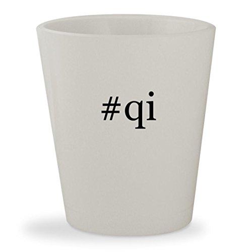 Price comparison product image #qi - White Hashtag Ceramic 1.5oz Shot Glass