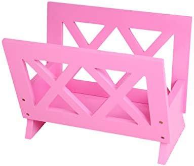 Frenchi Home Furnishing Contemporary Magazine Rack, pink