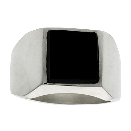Sterling Silver Obsidian Square Handmade
