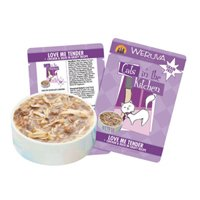 Cats in the Kitchen Cat Food, Love Me Tender, 3-Ounce Pouche