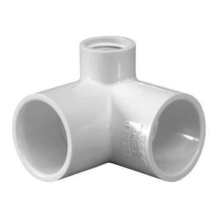 3/4 Inch X 1/2 Inch Socket Pvc 90 Deg. Elbow Fnpt Side Outlet ()