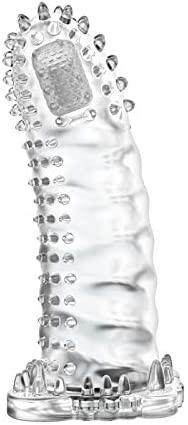 シリコーンコンドームエキスパンダーは男性の貞操のおもちゃを伸ばします袖を長くしますディックソックス再使用可能なコンドーム、透明