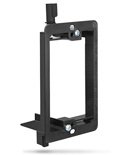 Low Voltage Mounting Bracket (1 Gang), Fosmon Low Voltage Mounting Bracket [Mounting Screws Included] for Telephone Wires, Network Cables, HDMI, Coaxial, & Speaker Cables