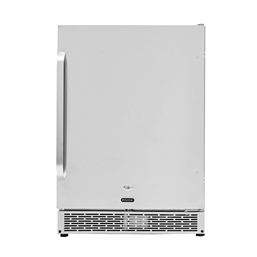 "Whynter BOR-53024-SSW 24"" Built-in Outdoor 5.3 cu.ft. Beverage Refrigerator Cooler, Stainless Steel, One Size,"