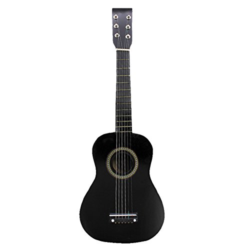 23 Inch Guitar for Kids, Basswood Mini Guitar Kids Musical Instrument Toy for Beginner(Black) by Dilwe (Image #9)