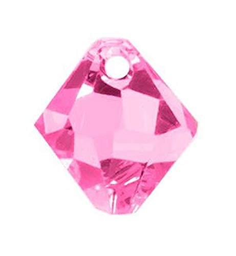 World's Natural Treasures - Swarovski Crystal Bicone Pendants 6301/6328-8mm- Rose - 10 pcs - Huge Selection of Beading Accessories