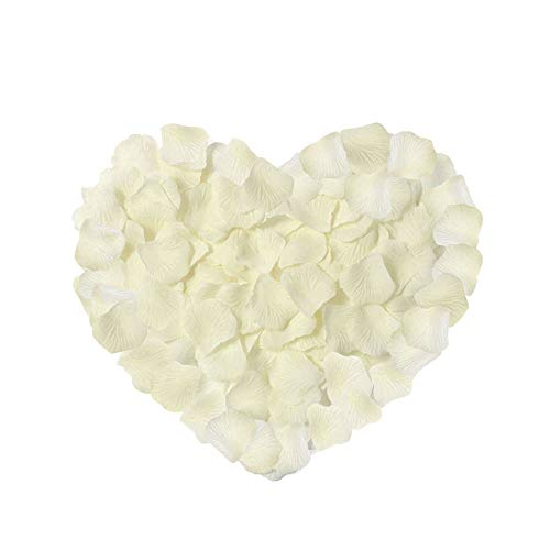 Neo LOONS 2000 Pcs Artificial Silk Rose Petals Decoration Wedding Party Color Ivory