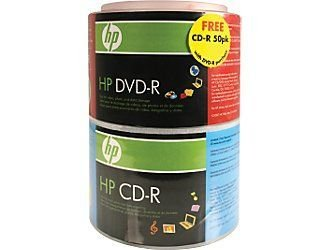 HP DVD-R/CD-R 16X Disk 100 Pack
