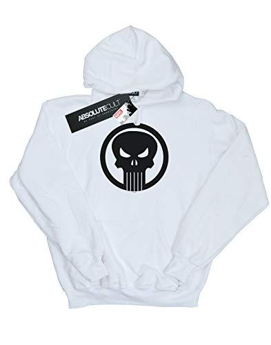 Marvel Blanco Circle Capucha Punisher Skull Mujer qTxB4q