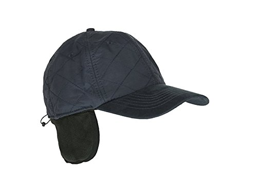 Navy Cold Weather Ball Cap with Earflap, 50 UPF-UV Sun Protection, Waterproof