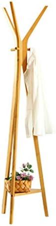 コートラックフロアベッドルームソリッドウッドハンガー現代ミニマルリビングルームクリエイティブランディングハンガー衣類棚 ( 色 : ナチュラル )