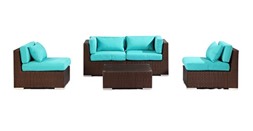 Kardiel Modify-It Aloha Kauna 5 Piece Espresso Wicker Set...
