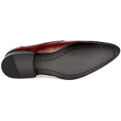 Brown Scarpe Pelle Primavera Uomo da Broch Stringate Confortevole Stile Inglese in Scarpe 1xqPZX