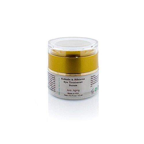 ORGANIC PROACTIVE, PROFESSIONAL GRADE, Kakadu & Hibiscus Eye Treatment Serum (FIRM + STRENGTHEN + GLOW - All/Oily/ Combination Skin Types) 0.5 fl.oz