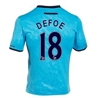 2013-14 Tottenham Away Shirt (Defoe 18) B07D8HQLTTSky Blue Small 34-36\