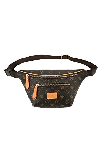 Leather Fanny Pack for Women, Designer PU Waist Purse Belt Bag for Ladies BR ()