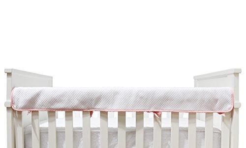 Living Textiles Diamond Matelassé Crib Railing - Pink