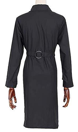 Moda Giacca Bavero Autunno Schwarz Monocromo Outerwear Slim Di Casuale Giacche Manica Plus Donna Lunga Primaverile Eleganti Prodotto Abbigliamento Cappotto Fit 8f7q8r1x