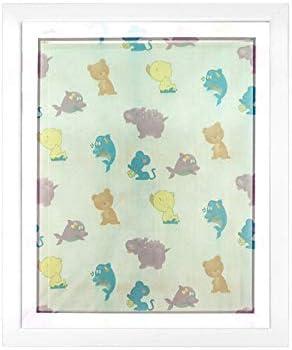 130 x 150 cm blanche JAROLIFT Moustiquaire pour fen/être denfants avec motif color/é Lot de 1