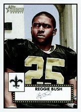 2006 Topps Heritage Rookie Card (2006 Topps Heritage #312 Reggie Bush - New Orleans Saints - Rookie Card (RC) / New Orleans Saints / NFL Football Cards - In Protective Case - Sports Trading Cards Collecting)
