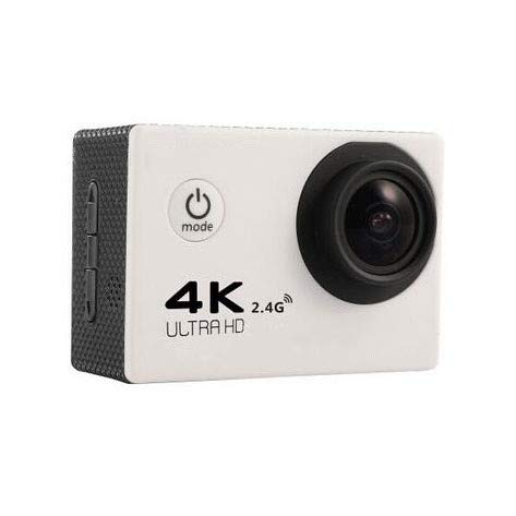 DUANJ 4K Action Camera 16MP Underwater Waterproof Camera 170° Wide Angle WiFi Sports Cam with Remote Batteries and Mounting Accessories Kit-White