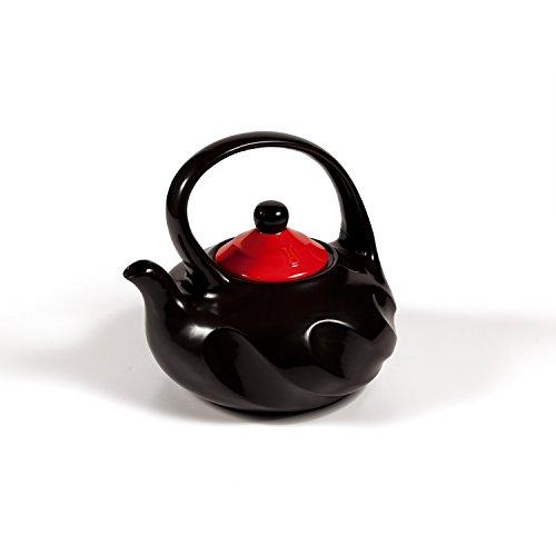 Xtrema 10 Cup  100% Ceramic Swirl Black Tea Pot with Colored