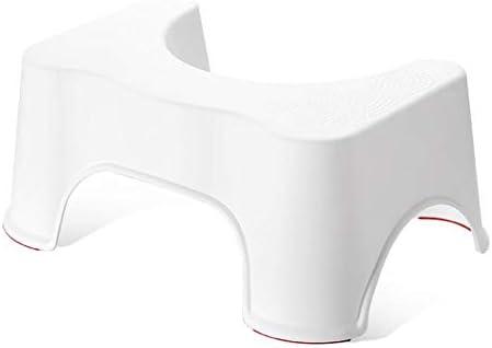 トイレの台座スツールホワイト家庭用プラスチック子供の滑り止めスクワットスツールは便秘と膨満感を和らげるのに役立ちます(50 * 30.5 * 20.5 cm)