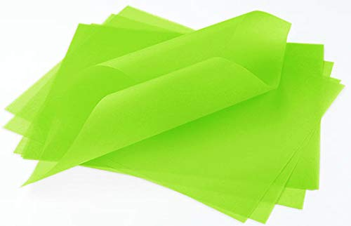 Leaf Green Translucent Vellum - 8 1/2 x 11, 30lb Colors Transparent, 100 Pack