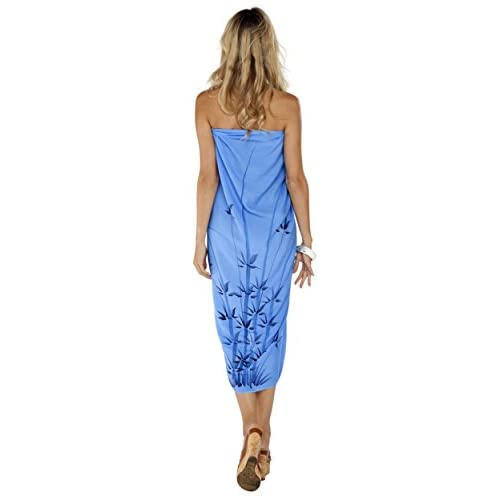 11d75d30c7bab 1 World Sarongs Womens Elegant Rayon Swimsuit Sarong with a Bamboo Design  durable service