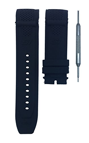 Black Rubber Watch Band Strap 26mm For Invicta S1 Rally 90158