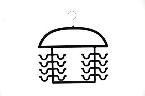 Velvety Womens Sport Tank Top, Cami, Bra, Strappy Dresses, Bathing Suit Closet Organizer Hanger, Set of 2 Black by Axis International Marketing