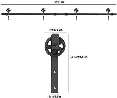 Zoternen Kit de Accesorios de Puertas Herraje de Acero Carbono ...