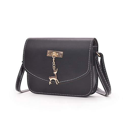 Messenger Bag Ladies Bafaretk Black Handbag Deer PINK Tote Shoulder Bag Fashion Pendant Casual Womens Hzqtnt