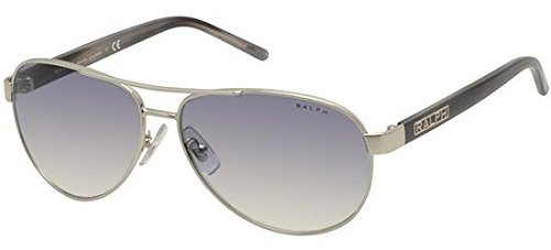 Ralph by Ralph Lauren Women's 0ra4004 Aviator Sunglasses, Light Silver, 59.0 ()