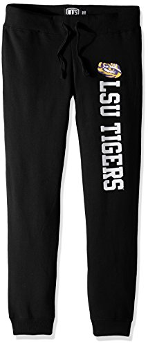 NCAA LSU Tigers Women's Ots Fleece Pants, Large, Jet -