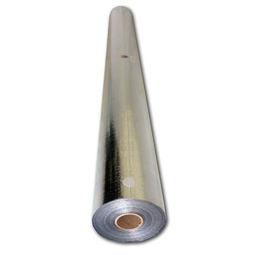 Radiant Barrier Reflective Foil Insulation: (500 Sq Ft Roll) Industrial Strength, Commercial Grade, No Tear, Double Sided, Perforated Aluminum for Attic Insulation, Windows, Garages, Greenhouses